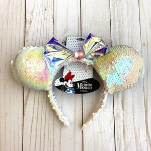 Minnie Mouse Holographic/White Ears (Kids) NWT